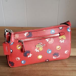Coach Wild Prairie Nolita Red Floral Mini Purse